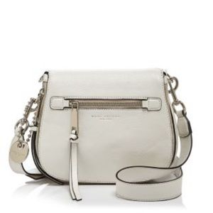MARC JACOBS || Saddle white crossbody purse